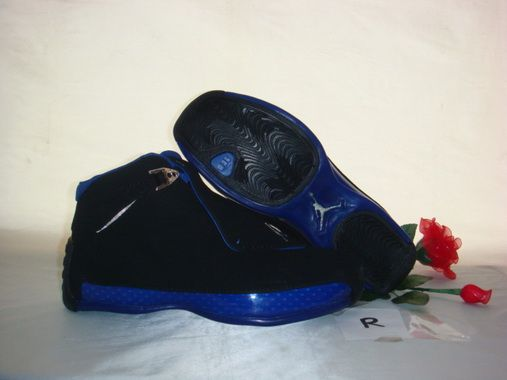 Air Jordan 18 Shoes Dark blue/Black