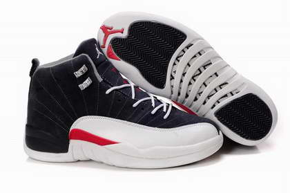 Air Jordan 12 Shoes Black/Red/White