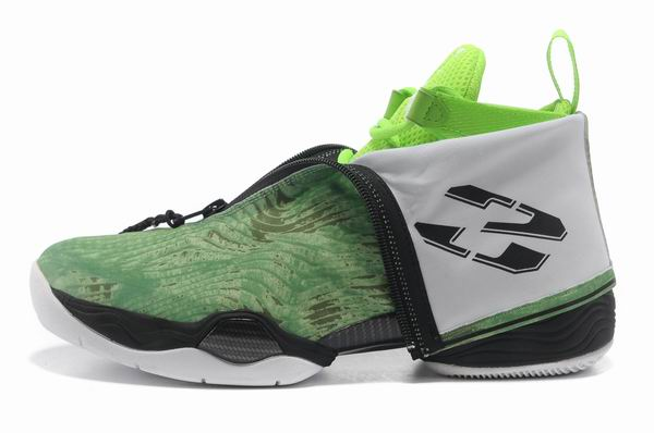 Air Jordan 28 Shoes Light green/White/Black