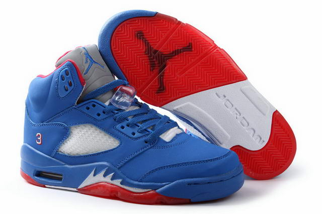 Air Jordan 5 Retro Shoes Blue/Red
