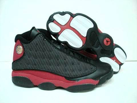 Air jordan 13 Retro Shoes Black/Wine red