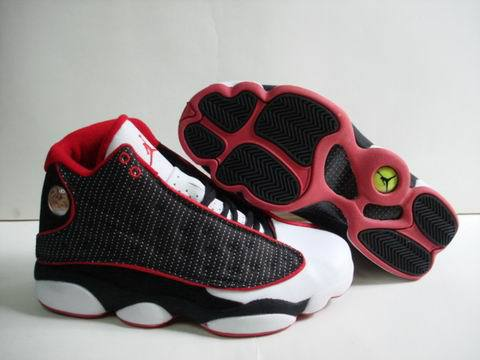 Air jordan 13 Retro Shoes Wine red/Black