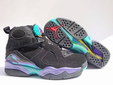 Air Jordan 8 Retro Shoes Aqua Black/Blue