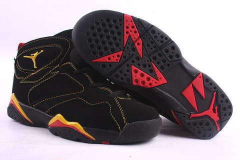 Air Jordan 7 Retro Shoes Black/Yellow