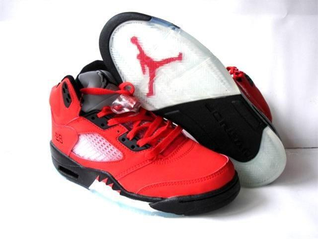 Air Jordan 5 Retro Shoes Red/Black