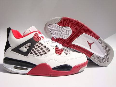 Air Jordan 4 Retro Shoes Red/Black/White