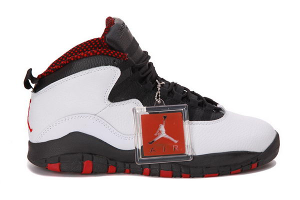 Air Jordan 10 Chicago Retro 2012 Shoes WHITE/BLACK VARSITY RED