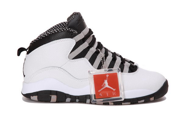AIR JORDAN 10 RETRO STEEL 2013 Shoes WHITE/BLACK LIGHT STEEL GREY