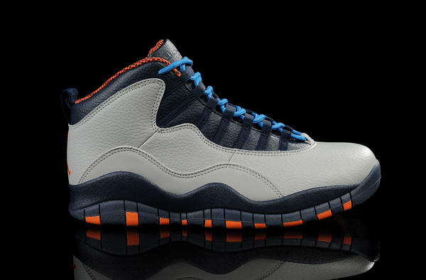 Air Jordan 10 Retro New releases Shoes cool gray/black blue orange