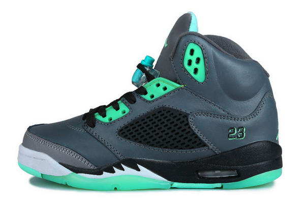 Air Jordan 5 Prairie Green Shoes blue/white gmma blue