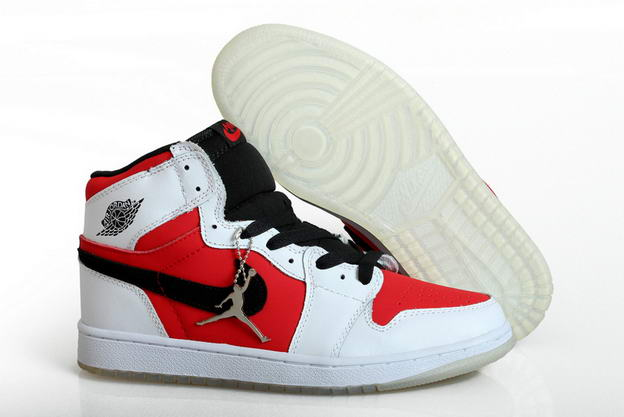 Air Jordan 1 Retro Shoes white/fire red black
