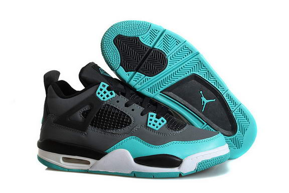 Air Jordan 4 Retro Shoes Blue/black white