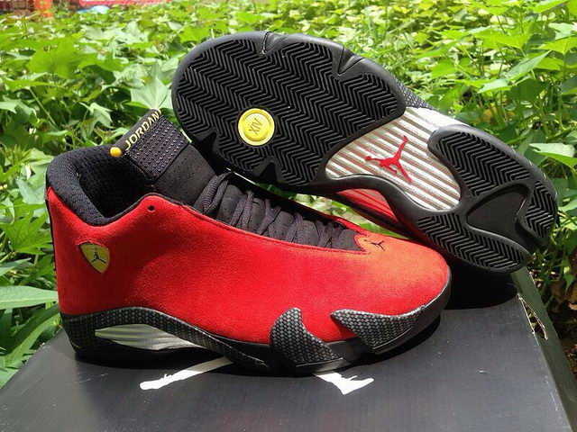 Air Jordan 14 Ferrari Shoes Fusion Red/black yellow