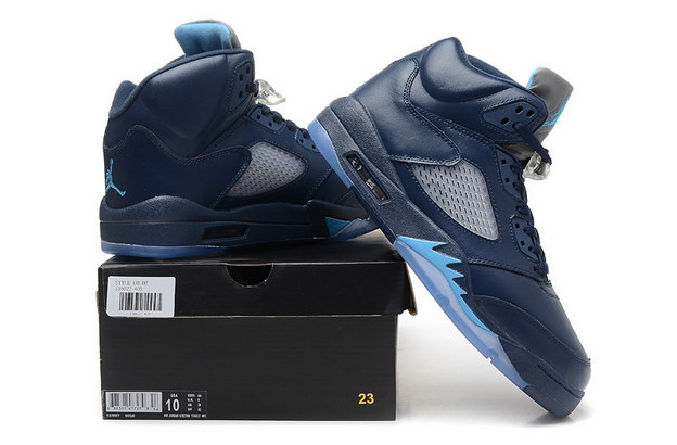 Air Jordan 5 Retro Shoes Hornets Blue/gray