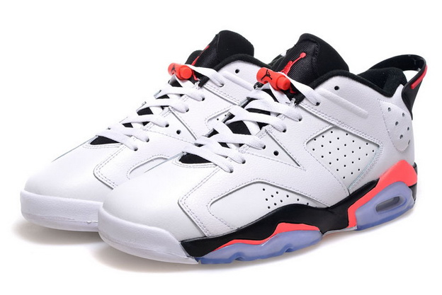 Air Jordan 6 Retro Low infrared Shoes White/infrared