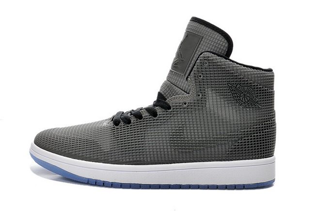Air Jordan 1 Retro Shoes Black/gray white