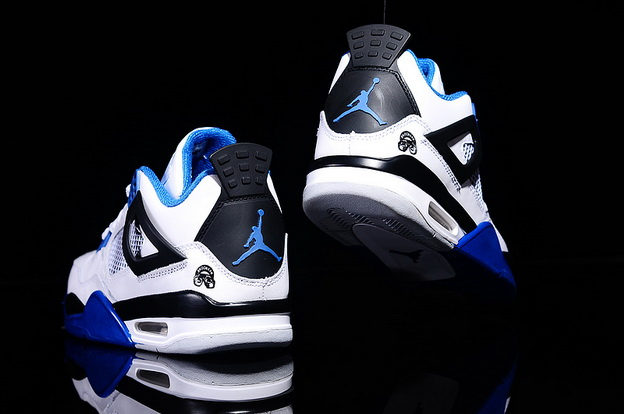 Air Jordan 4 Spike Lee Shoes White/black blue