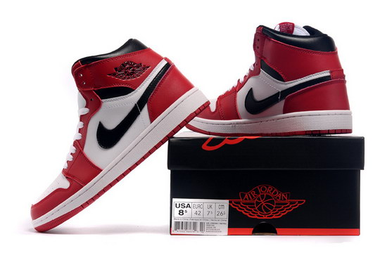Air Jordan 1 Retro Shoes Red/white black