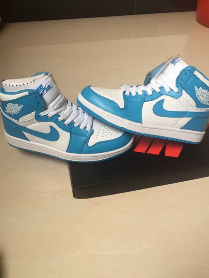 "Air Jordan 1 ""North Carolina"" Shoes Blue/white"