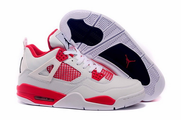 Air Jordan 4 Retro Shoes red/white