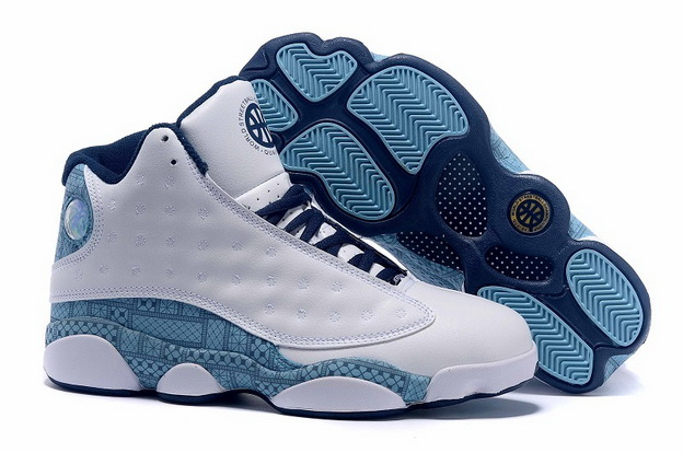 Air Jordan 13 High QUAI 54 Shoes White/blue