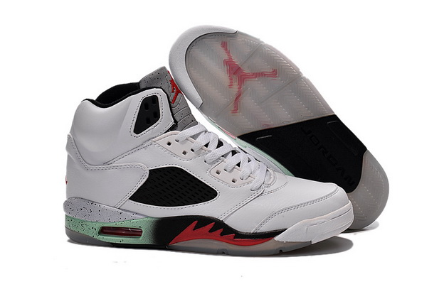Air Jordan 5 space jam Shoes White/red green black