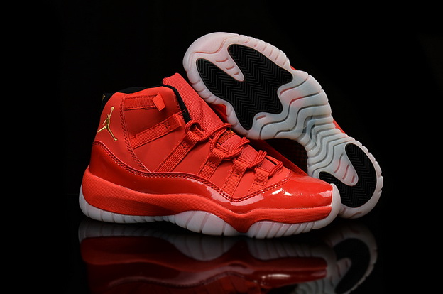 Air Jordan 11 Retro Shoes Red/black