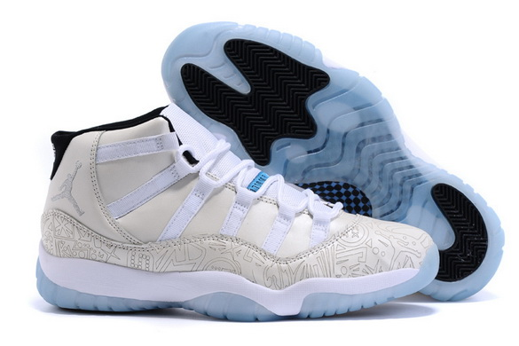 Air Jordan XI 11 Retro Shoes White/legend blue black