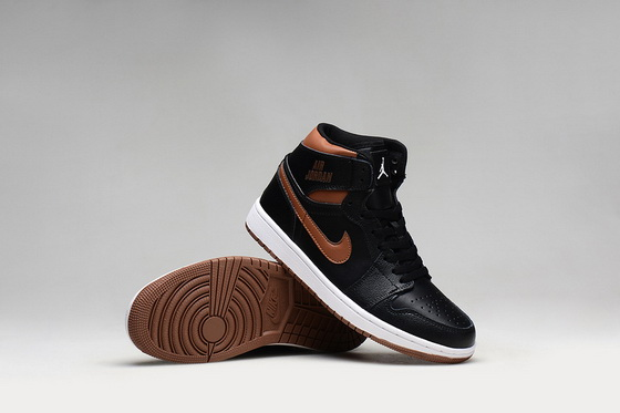 Air Jordan 1 Retro Shoes Black/bronze
