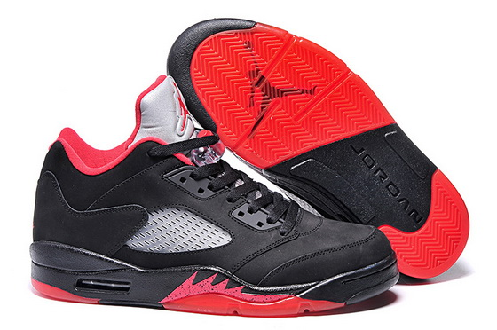 Men's Air Jordan 5 Low Shoes Black/red gray