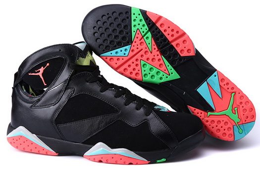 "Air Jordan 7 ""Marvin the Martian"" Size 14 15 16 Shoes Black/Infrared 23 Blue Graphite Retro Noir"