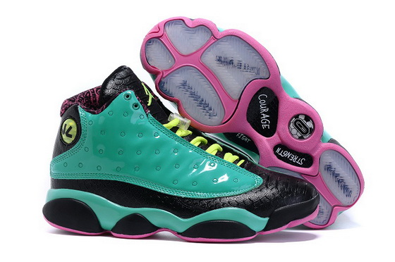 "Air Jordan 13 DB ""Doernbecher"" Shoes Green/black pink"