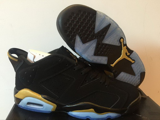 Air Jordan 6 Low Shoes Gold/black