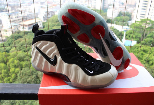 Men's Air Foamposite Pro Shoes White/black