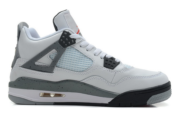 "Air Jordan 4 Big Size ""14 15 16"" Shoes White/wolf gray black"