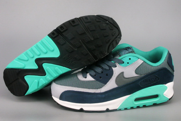 Men's Air Max 90 Shoes Green/blue gray