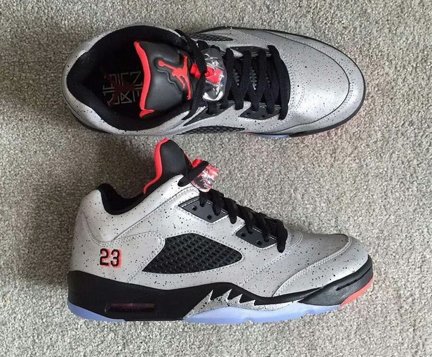 "Air Jordan 5 Low ""Neymar"" Shoes Gray/red black"