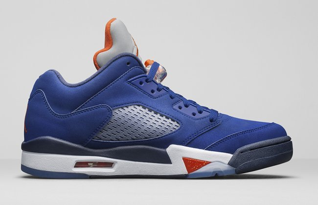 "Air Jordan 5 Retro ""Knicks"" Shoes Blue/orange gray white black"