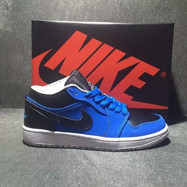 Air Jordan 1 Low Shoes Blue/Black
