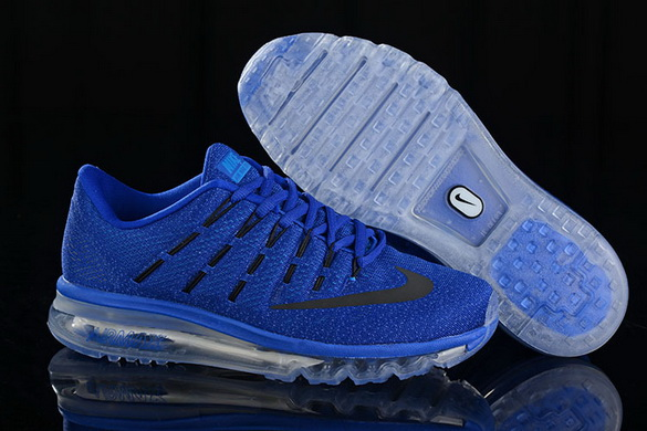 Men's Air Max 2016 Shoes Real Blue/black