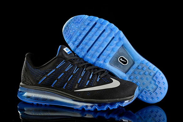 Men's Air Max 2016 Shoes Black/white blue