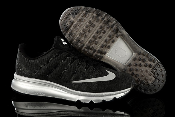 Men's Air Max 2016 Shoes Black/White