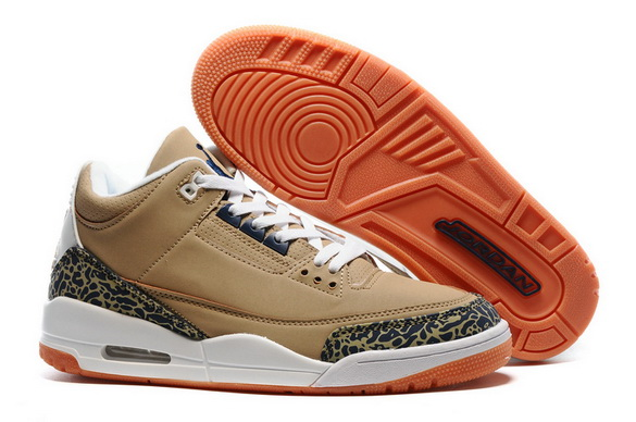 "Air Jordan 3 ""Khaki"" Shoes Black Cement/Khaki White"