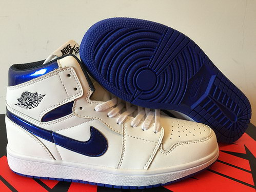 Air Jordan 1 Retro Shoes White/Real Blue