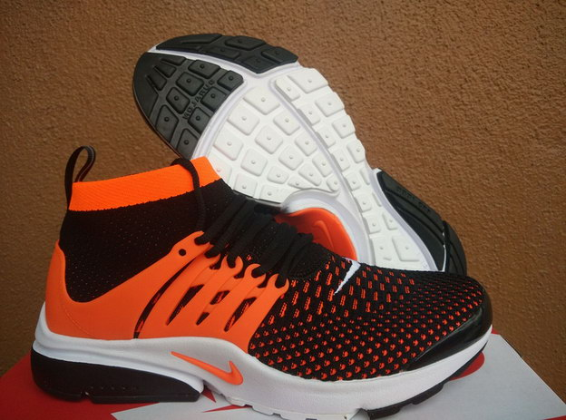 Air Presto Ultra Flyknit Shoes Orange/black white