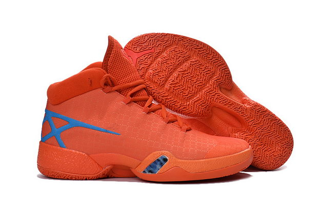 Air Jordan 30 XXX Shoes Orange/Blue