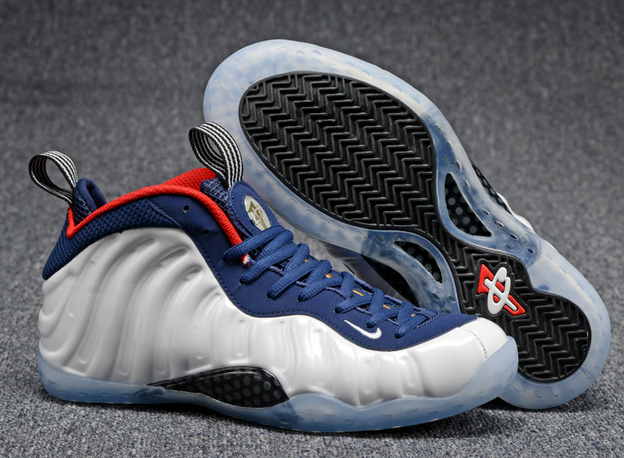 Air Foamposite One 2016 Shoes White/Blue Red Black