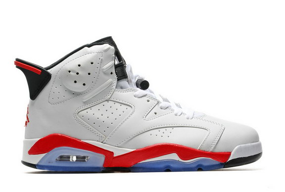 timeless design b4710 ff6ee Air Jordan 6 Retro Shoes White/Fire Red :