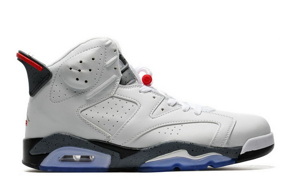 Air Jordan 6 Retro Shoes White/Grey Red