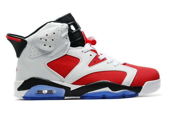 Air Jordan 6 Retro Shoes White/Carmine Black